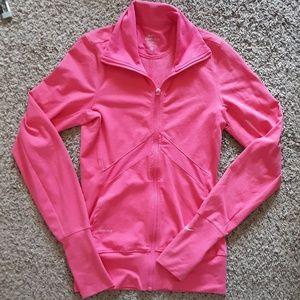 Women Nike Dri fit Pink Zip up jacket in XS